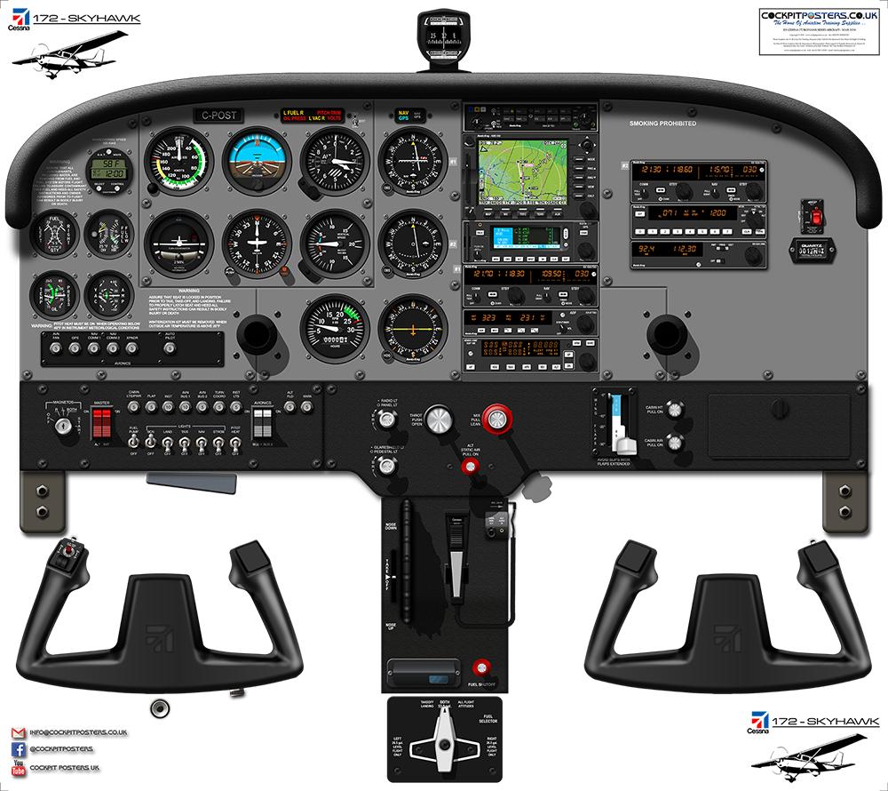 #01 - Cessna 172 Skyhawk SP Nav II + MFD Cockpit Poster