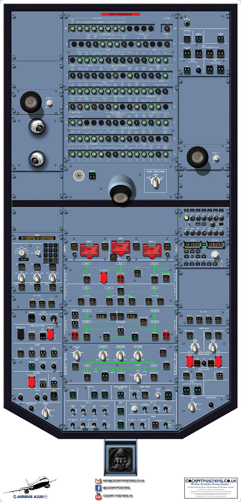 #04 - Airbus A319/A320/A321 LCD CFM Cockpit Poster